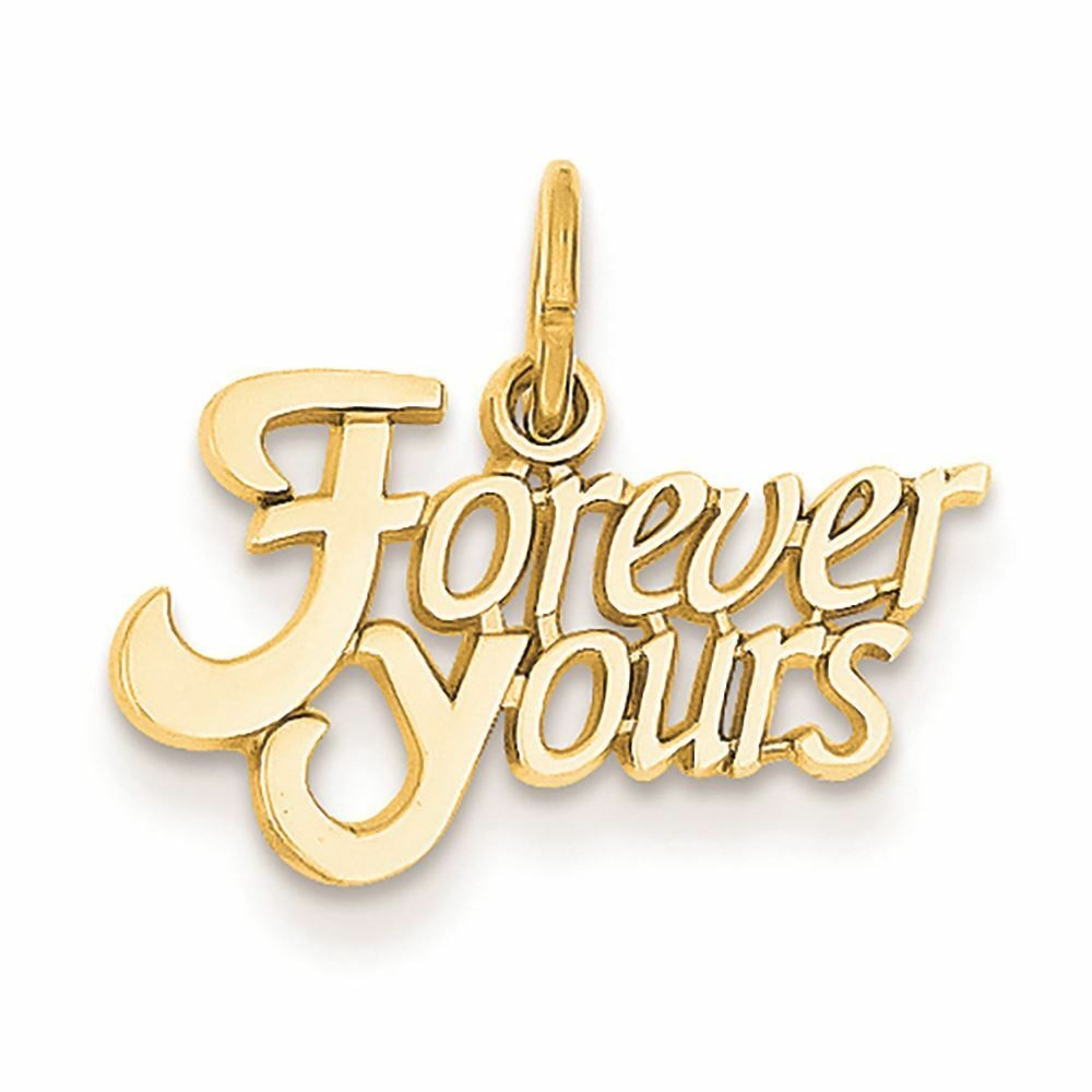 14K Yellow gold  Forever Yours  Charm Pendant MSRP  140