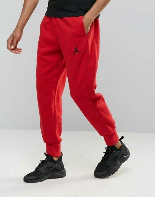 823071 687 Nike Air Jordan Flight Fleece Red Sweatpants Men Size M