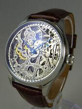 UNIQUE skelet Uhr Seagull mechanical movement type UNITAS 6497 skeleton watch
