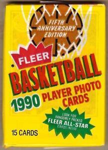 1990-91 Fleer Basketball Wax Pack MITCH RICHMOND on Top - KARL MALONE on Bottom