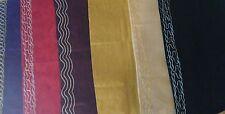 Lot of 6 African BrocadeHead Wrap/Scarf-Sash/Head NeckTie/Multicolor-100% Cotton