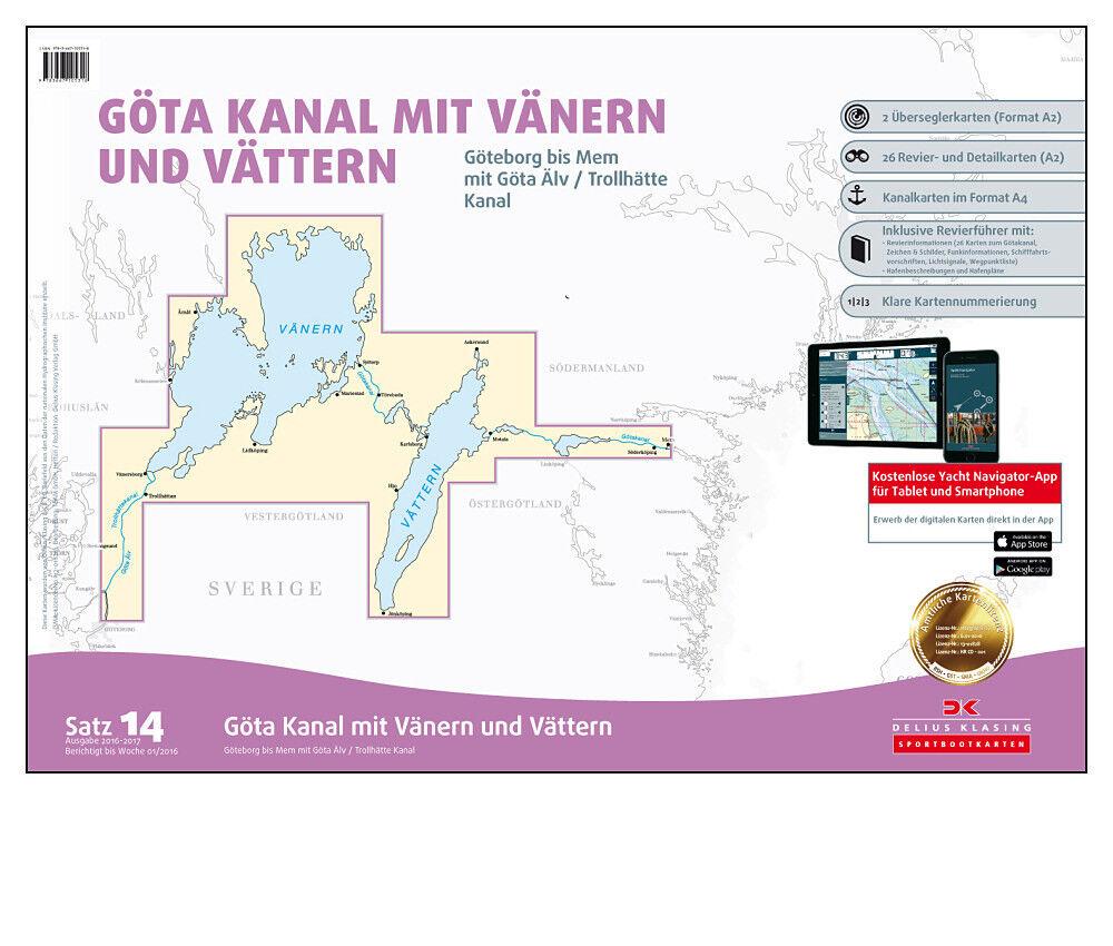 DK Schweden, Satz 14, Schweden, DK Binnengewässer - Götakanal   Kanal Seekarte Smartphone App fb7727