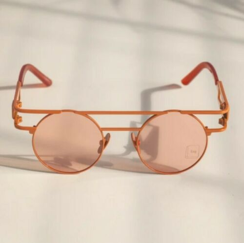 Dolls Kill: Esqape Orange Speqz Sunglasses: Mirror