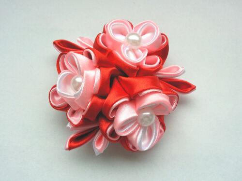 Kanzashi Blumen Haarklammer Satinblumen Haarschmuck Kopfschmuck Kanzashi*