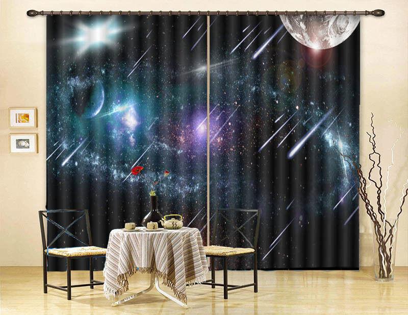 Sogno Meteor Paesaggio 3D Tenda Bloccare Foto Stampa Tendaggio Drappo Tessuto Fi