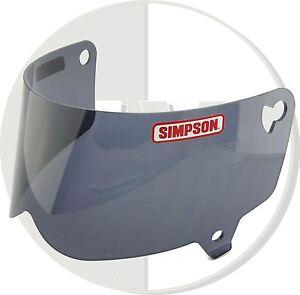 SIMPSON-Casco-Negro-Visera-Para-Outlaw-MOTO-XL-XXL-Tamano-de-C