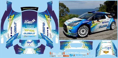 CITROEN DS3 WRC MIELE RALLY DELLA ELBA  DECALS 1//43 no model