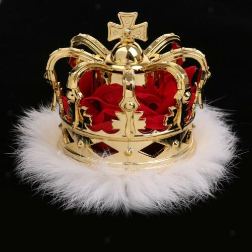 Luxury Mini Queen Crown Tiara Hat Costume Headwear Party Accessories