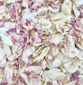 Biodegradable-Wedding-CONFETTI-IVORY-Dried-Pale-Pink-Rose-Petals-FLUTTERFALL