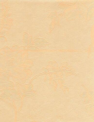 Damast Wachstuch Tischdecke Meterware Blumendessin floral apricot B0001-03