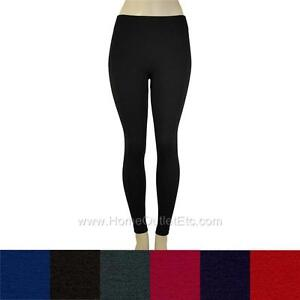 Seamless-Fleece-Lined-Leggings-Winter-Pants-Lining-Warm-Thick-Stretch-Footless