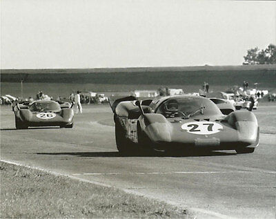 Frugal Vintage 8 X 10 1970 Daytona 24 Two Ferrari 512s' Jacky Ickx & Nino Vaccarella Racing-other