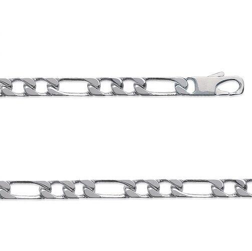 Chaine hyper LARGE HOMME HOMME HOMME maille figaro 1-2 50 cm argento 6mm BijouterieJOLYBIJOUX 0ada14