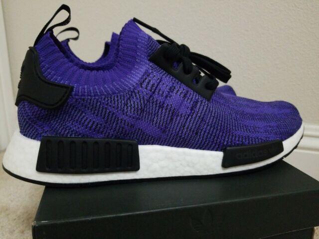 sports shoes 3f1e7 8d530 adidas NMD R1 PK B37627 Mens Size 11 Primeknit Purple Ink Ultraboost Yeezy