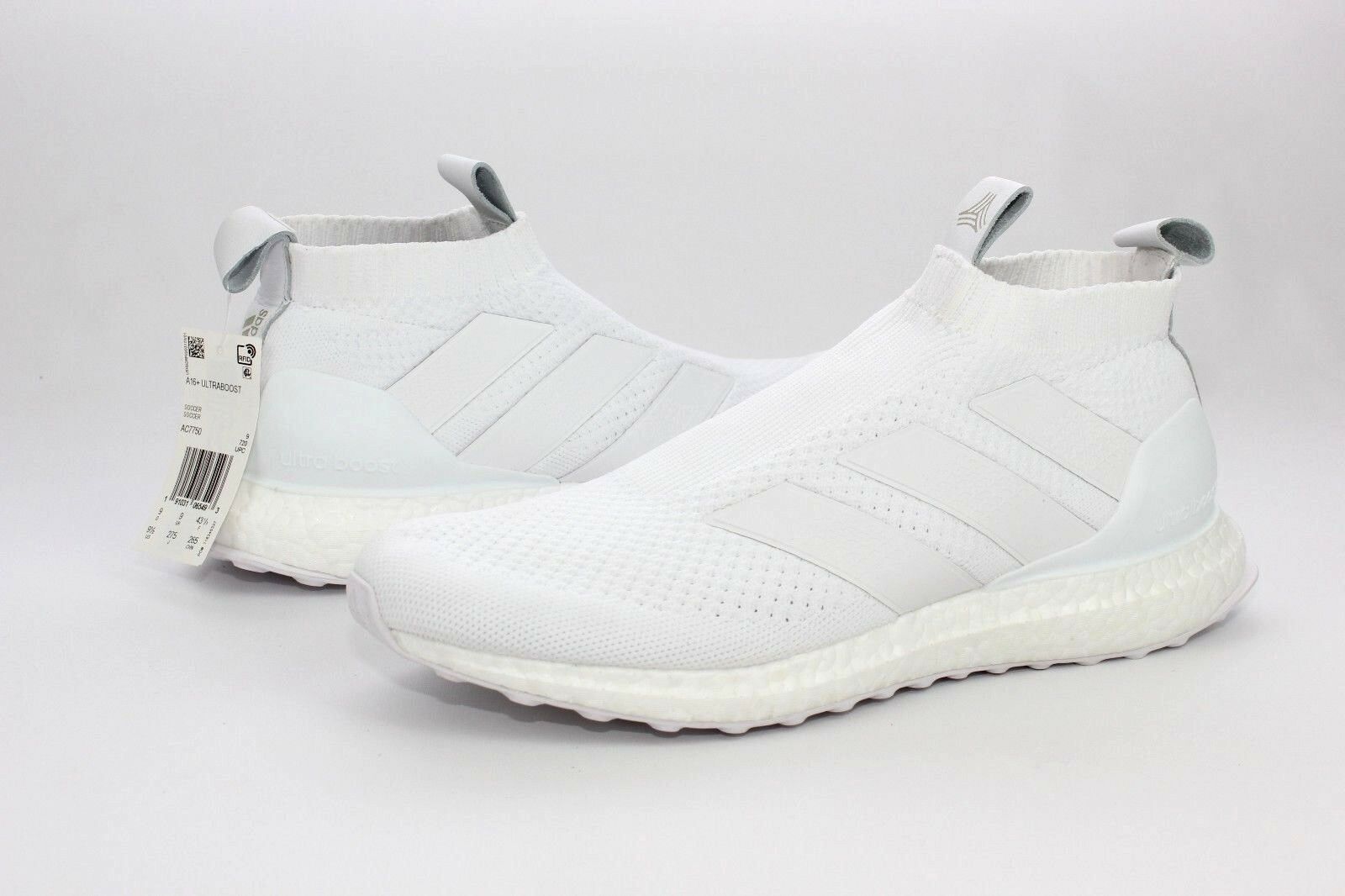 Adidas A16 + UltraBOOST  White Soccer Running shoes Mens Size 9.5 NIB AC7750