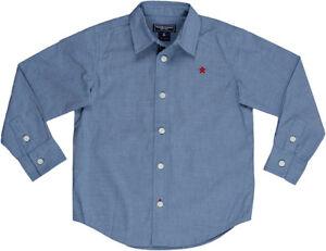 8 10 Pocket Dress Shirt GAP Kids Blue Chambray Denim NEW Boys Sz 4-5