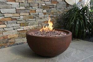Details About Jefferson Bowl Fire Pit Eco Stone Gas Modeno Uk Copper