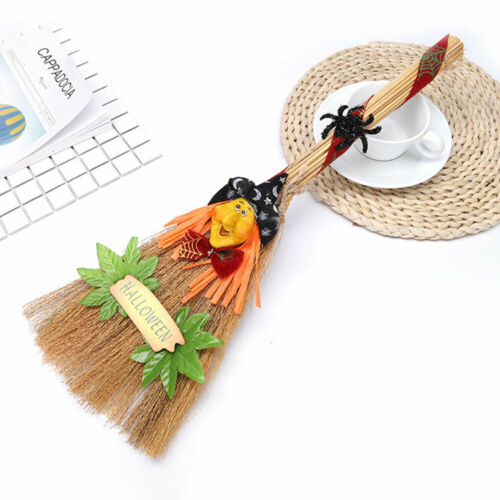A27A Reed Witches Broom Witches Accessories Party Spider Horror Clothing