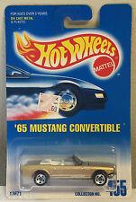 Hot Wheels 65 Mustang Convertible Collector #455 Metalflake Gold - Malaysia 1991