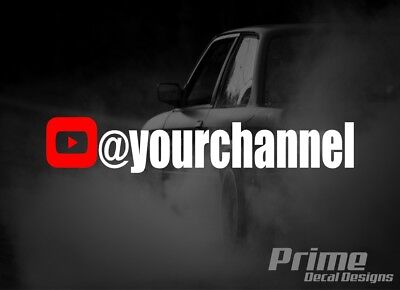 YouTube Car Window Vinyl Decal Sticker Vinyl Car Decal Personalized YouTube Username Sticker Custom YouTube Channel Name Vinyl Decal