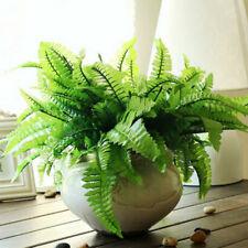 Green Artificial Fern Bouquet Silk Plants Fake Persian Leaves Decal Super N
