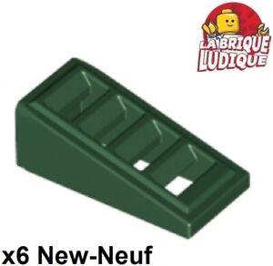 6 x LEGO 61409 Brique Pente Grille blanc white Slope 1x2 Slots NEUF NEW