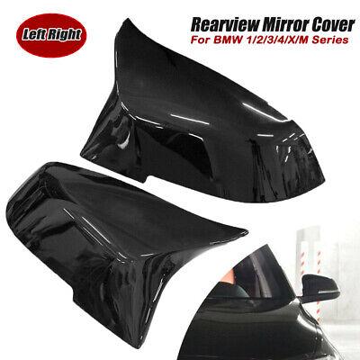 Car Glossy Wing Mirror Cover Cap For BMW F20 F21 F22 F30 F31 F32 F36 X1 E84 F87