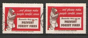 1950's FOREST SERVICES YOGI BEAR 'PREVENT FOREST FIRES' CINDERELLA DUO (U)