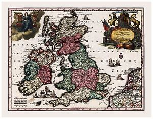 Old-Vintage-Map-of-England-Scotland-Ireland-Seutter-1744