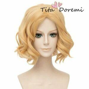Halloween Wig Cosplay A3 Blonde Music grame short party fashion wigs Hair//