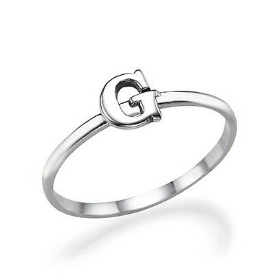 Stand Out Sterling Silver Initial Ring