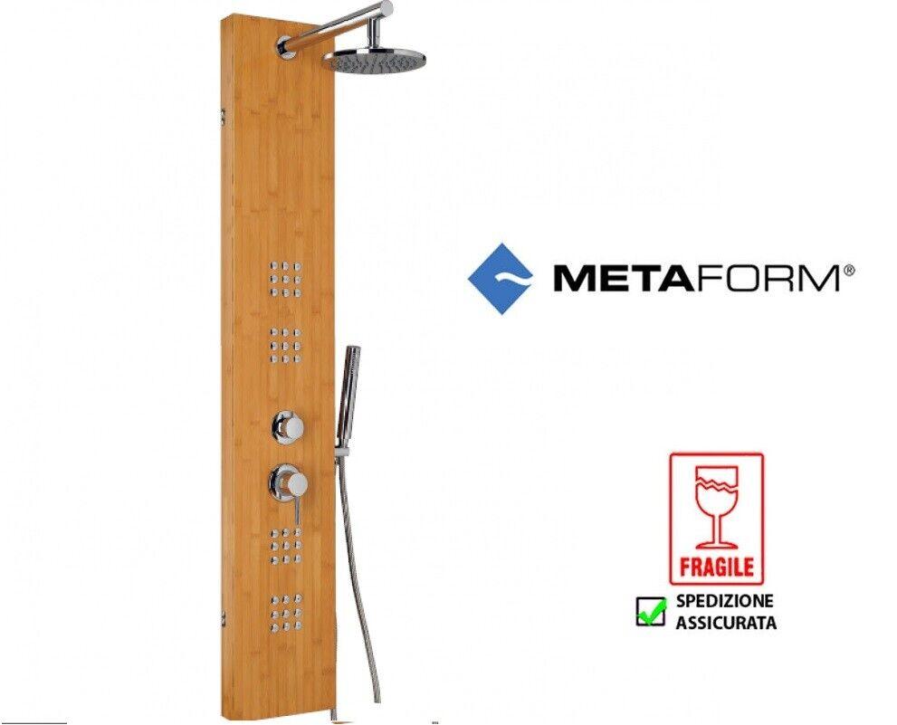 Metaform mod Rio bamboo parete colonna doccia idromassaggio bagno