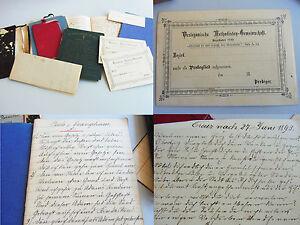 Diskret Konvolut Dokumente Methodisten-prediger A Rar Elegantes Und Robustes Paket Barnikel / V.a Handschriften