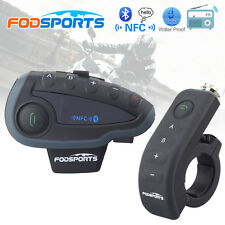 1×1200M Bluetooth Motorbike Helmet Intercom Interphone Headset V8+Remote Control