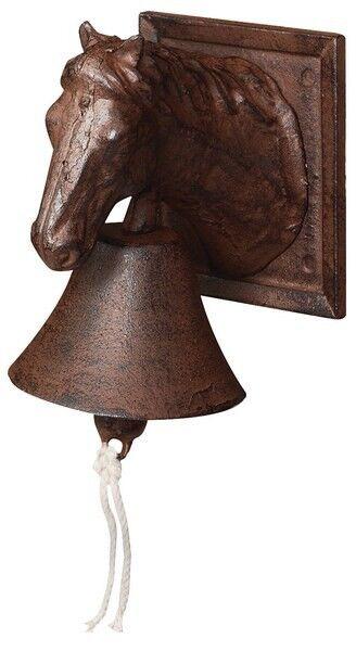 Esschert Design antik-rostbraune Türglocke Vogelmotive Gusseisen 22x11x19cm