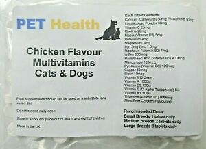 Multi-Vitamins-x-30-Chicken-Flavour-Tablets-For-Dogs-and-Cats-31-MultiVitamins