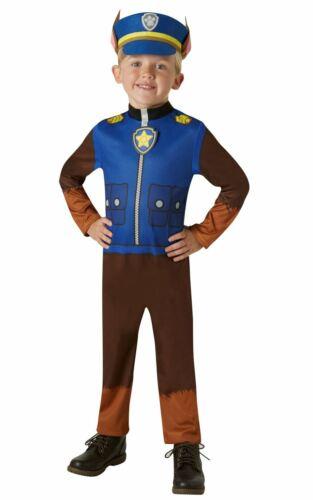 Chase Paw Patrol Boy/'s Fancy Dress Costume