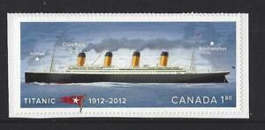 Kanada-2012-Titanic-Ex-Selbstklebend-Broschuere-Nicht-Gefasst-Postfrisch-MNH