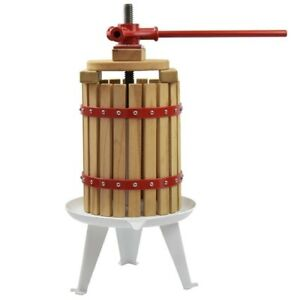 Fruit-and-Wine-Manual-Press-Solid-Wood-Basket-4-75-Gallon-18L-EJWOX-Cider-Press