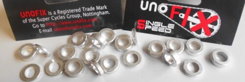 Unofix AlloyChainring Bolt Spacers FIXIE S-SPEED DOUBLES TRACK.RING//BASH Pack 5