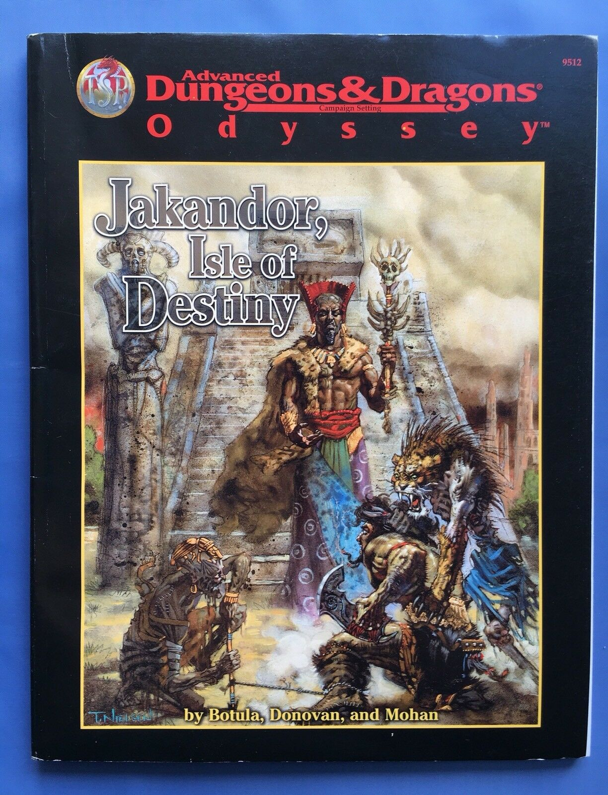 JAKANDOR, ISLE OF DESTINY - Advanced Dungeons & Dragons - TSR 9512 AD&D Odyssey