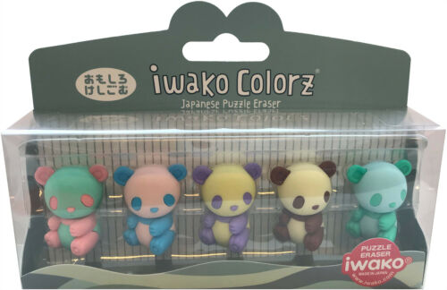 5 Variations IWAKO Japanese Animal Erasers Rubbers IWAKO Colorz Eraser Sets