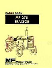 Massey Ferguson Mf 275 Tractor Parts Book Manual Mf275