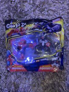 Marvel Heroes of Goo Jit Zu Versus Figurine Pack-Mushy Spiderman /& Squishy Venom