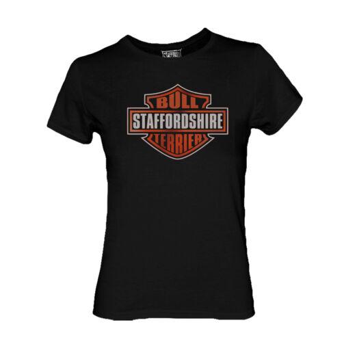 Staffordshire Bull Terrier Girlie Harley Biker Motorrad Staffbull Dept S-XL