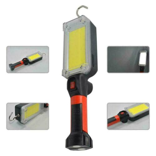 Work Lights Mechanic Workshop Inspection Rechargeable Lamp Torch COB LED N9Z8