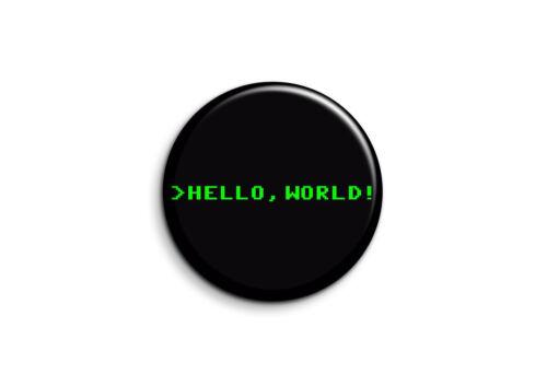 Magnet 56mm Humour Hello World 1