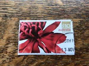 2006-10-Waratah-Australia-Stamp-Used-On-Paper