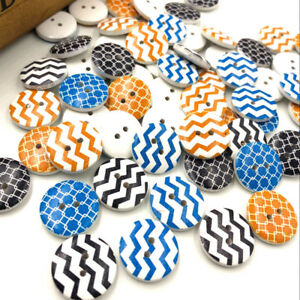 New-50pcs-SLine-Wood-Buttons-20mm-Sewing-Craft-Mix-Lots-WB186