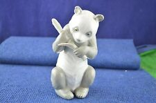 Lovely Nao By Lladro ''Panda Bear Holding Bamboo Stick'' Figurine USC RD7172